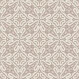 Textura da tela do laço do vintage, teste padrão sem emenda Foto de Stock