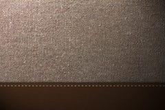 Textura da tela e do couro Imagem de Stock