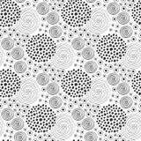Textura da tela Teste padrão sem emenda da forma Projeto de matéria têxtil Origem étnica com círculos ilustração royalty free
