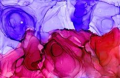 Textura da tinta do álcool Fundo fluido do sumário da tinta arte para o projeto ilustração do vetor