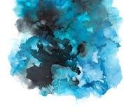 Textura da tinta do álcool Fundo fluido do sumário da tinta arte para o projeto fotografia de stock