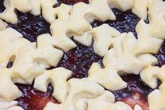 A textura da torta antes de cozer Fotos de Stock Royalty Free