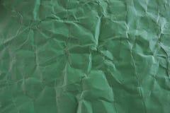 Textura danificada do papel verde Fotografia de Stock Royalty Free