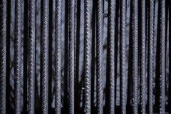 A textura das barras de ferro imagens de stock