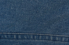 Textura das calças de brim Fotografia de Stock