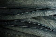 Textura das calças de brim Imagens de Stock