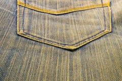 Textura das calças de brim Foto de Stock Royalty Free