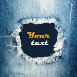 Textura das calças de brim da sarja de Nimes Imagens de Stock