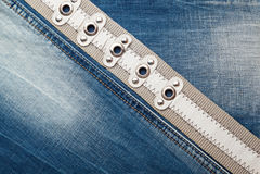 Textura das calças de brim da sarja de Nimes Foto de Stock