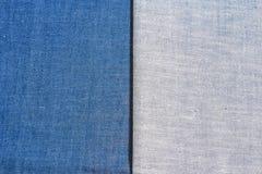 Textura das calças de brim da sarja de Nimes Fotos de Stock
