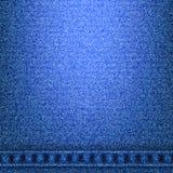 Textura das calças de brim da sarja de Nimes com as emendas na parte inferior Fotografia de Stock Royalty Free