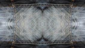 Textura das calças de brim do retângulo ilustração stock