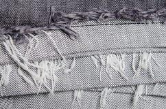 A textura das calças de brim fecha-se acima Imagem de Stock Royalty Free