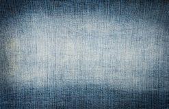 Textura das calças de brim da sarja de Nimes Imagem de Stock Royalty Free
