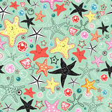 Textura das estrelas de mar Foto de Stock
