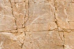 Textura das fendas da rocha Imagens de Stock