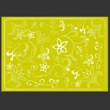 A textura das flores brancas em um fundo amarelo Foto de Stock