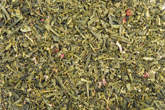 Textura das folhas de chá verde Fotografia de Stock Royalty Free