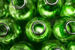 Textura das garrafas de cerveja Imagem de Stock Royalty Free