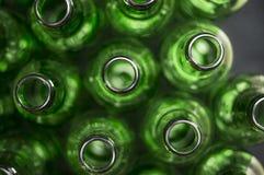 Textura das garrafas de cerveja Fotografia de Stock Royalty Free