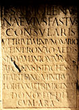 Textura das letras romanas Imagem de Stock Royalty Free