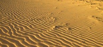 Textura das ondas de areia do deserto Fotos de Stock