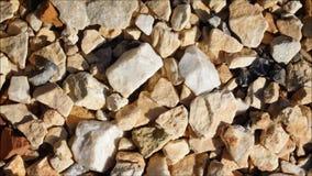 Textura das pedras video estoque