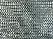 Textura de aço do correio Chain Imagens de Stock