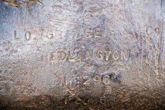 Textura de aço do ferro obsoleto velho, backround, Crimeia Imagens de Stock