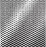 Textura de aço perfurada Ilustração do vetor ilustração stock