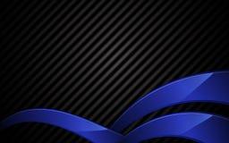 Textura de acero abstracta del vector y fondo azul del concepto de la tecnología de marco Imagenes de archivo