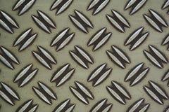 Textura de acero de la placa del diamante Imagen de archivo