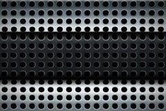 Textura de acero perforada de múltiples capas Fotos de archivo libres de regalías