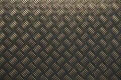 Textura de alumínio do metal de Chekered Imagens de Stock