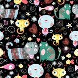 Textura de amantes do gato ilustração do vetor