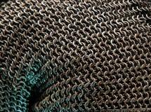 Textura de Armor Chain Fundo de a?o da armadura do correio do anel ou da corrente Fileiras de an?is do correio de corrente como u imagens de stock