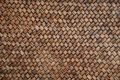 Textura de bambú de la cesta de la broza trenzada Fotografía de archivo libre de regalías