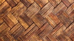 Textura de bambu da cesta de Weave Imagens de Stock Royalty Free