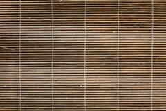 Textura de bambu da esteira de lugar Fotos de Stock