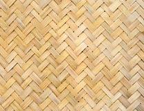 Textura de bambu do weave Imagem de Stock