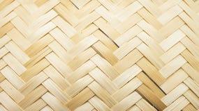 Textura de bambu do weave Fotos de Stock Royalty Free