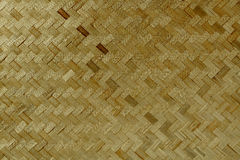A textura de bambu seca e o asiático do weave modelam a natureza da árvore Foto de Stock Royalty Free
