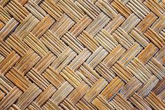 Textura de bambu velha da esteira do weave Fotografia de Stock Royalty Free