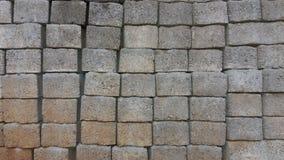 Textura de bloqueio dos tijolos do cimento Fotografia de Stock Royalty Free