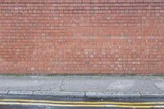 Textura de Brickwall con la tierra foto de archivo