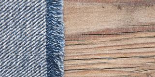Textura de brim azul Fotografia de Stock Royalty Free