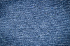 Textura de brim azul Fotos de Stock