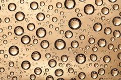 Textura de bronce del agua Foto de archivo libre de regalías