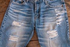Textura de calças de ganga Fotos de Stock Royalty Free