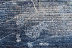 Textura de calças de ganga Imagens de Stock Royalty Free